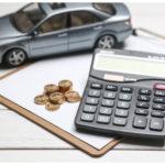 voiture calculatrice et argent